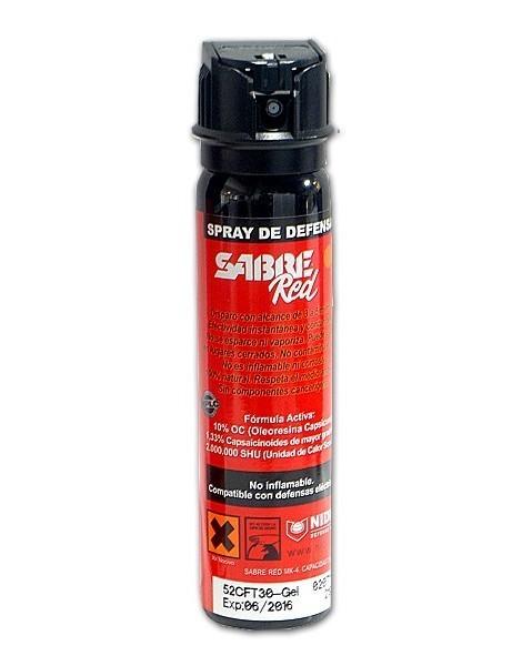 3902c0b240e SPRAY PIMIENTA Sabre Red Chorro GEL 75 ml CrossFire. Homologado