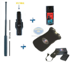1 DEFENSA ELECTRICA POLICE 1.800 KV + 1 BASTON EXTENSIBLE CON FUNDA + 1 ESPRAY GAS CS 40 ml